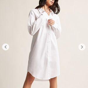 White button down dress